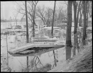 Flood damage, New England flood