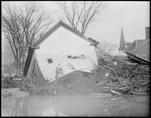 Barn destroyed by flood, Colebrook, N.H.