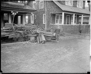 Flood damages house in Colebrook, N.H.