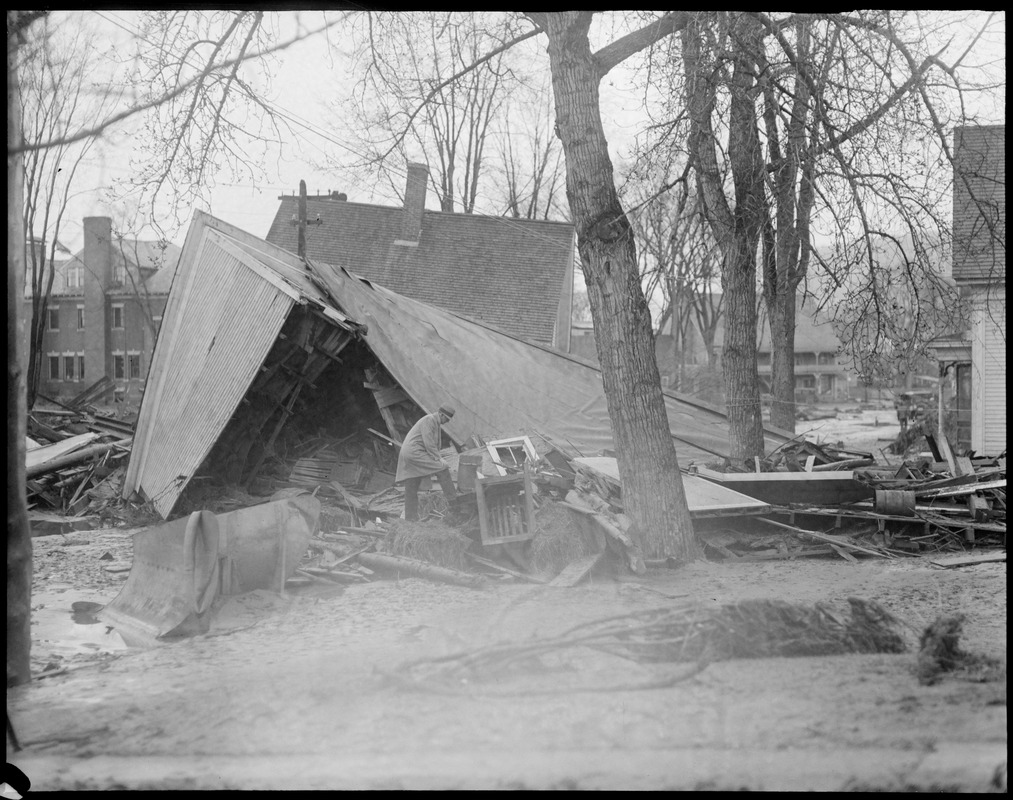 Damage from flood in Colebrook, N.H.