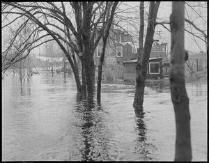 Flooded houses, 1936 flood