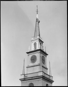 Old North Church, steeplejacks at work