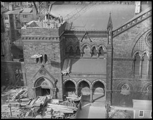 New Old South Church Tower comes down