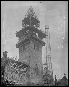 Construction of the New Tower of the New Old South Church