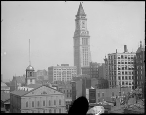 Faneuil Hall & Custom House Tower from Adams Square