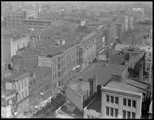 View of North End, Hanover St. from Pemberton Square