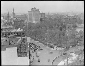 Ritz-Carlton and Public Garden from top of Walker Building on Boylston St.