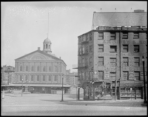 Faneuil Hall, Dock Square, foot of Congress, Exchange, & Devonshire Streets