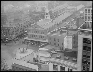 Dock Square and Faneuil Hall from top of the Ames Building