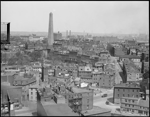 Bunker Hill Monument from grain elevator, Charlestown