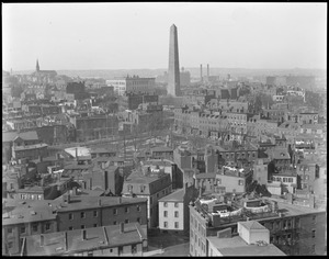 Bunker Hill Monument, Charlestown from grain elevator