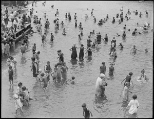 Bathing at North End park