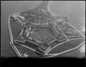 Aerial view of Fort Independence, South Boston