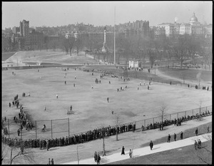 Ball field, Boston Common