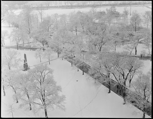 Boston Common after first snow fall