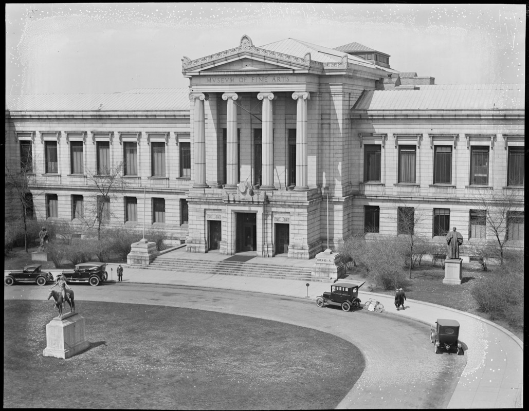Museum of Fine Arts, Huntington Ave. (Left center of panorama)