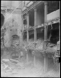 Inside of the post office building during demolition