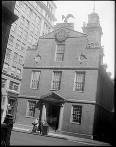 Historic old State House on State St., Boston