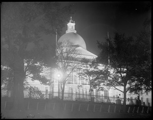 State House at night