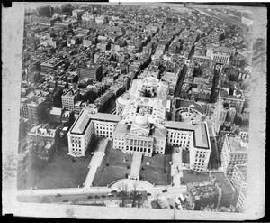 State House Boston from the air