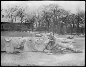 French statues from post office moved to Franklin Park