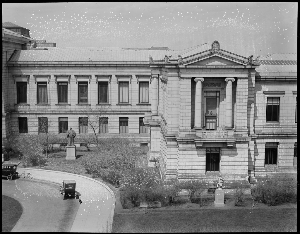 Panorama of the M.F.A. on Huntington (right center)