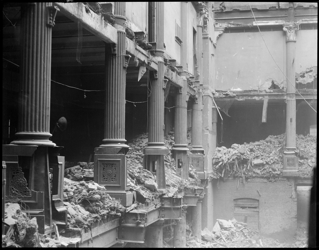 U.S. Post Office being torn down, Boston Mass.