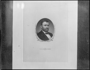 Steel engraving of Gen. Grant removed from cornerstone of old post office