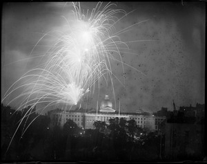 State House & fireworks