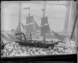 Old State House - miniature whaling scene