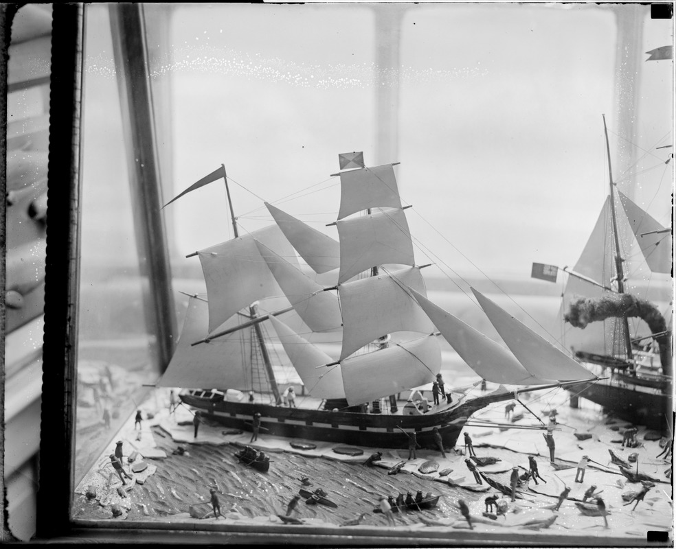 Old State House miniature whaling scene