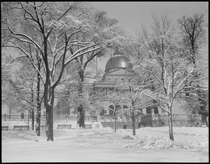 State House - after a big snowstorm