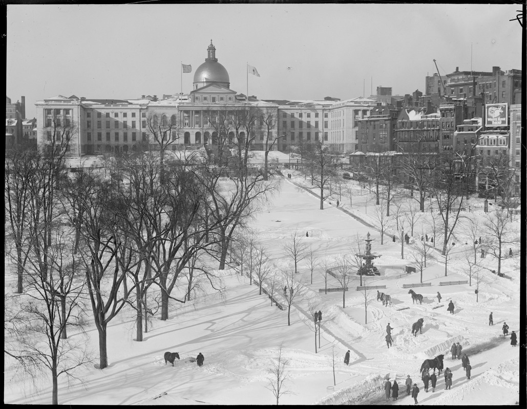 State House - Boston in wintertime