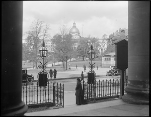 State House from St. Paul's Cathedral, Tremont St.