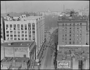 State House from Capitol Building - Tremont St. and Hollis St., Boston, bird's eye view