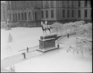 Gen. Joe Hooker's statue covered with snow