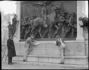Beacon St. statues - Robert Gould Shaw memorial is cleaned