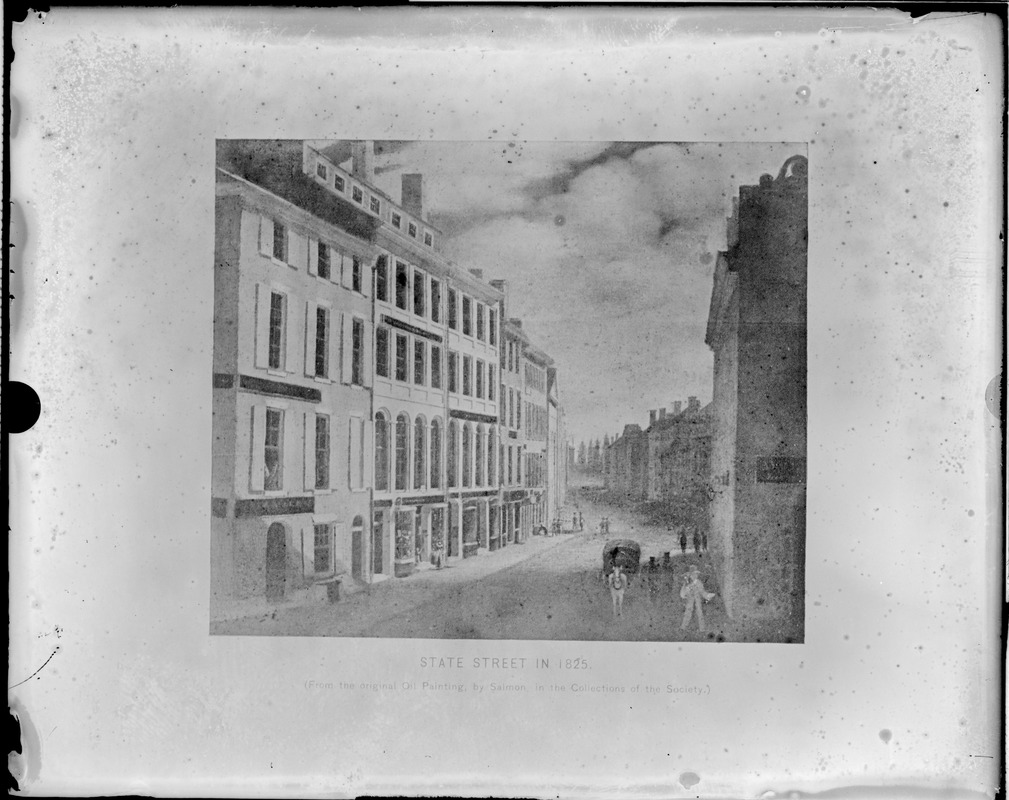 State Street in 1825, oil painting