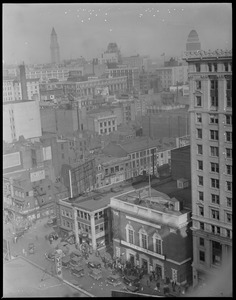 Tremont Street and Stuart Street, Theatre District, from Elks Hotel