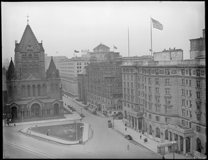 Trinity Church, Hotel Westminster and the Copley Plaza in Copley Square