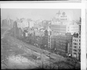 View of Tremont Street along the Boston Common