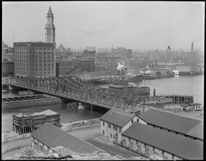 Northern Ave. Bridge, Fort Point Channel, and waterfront