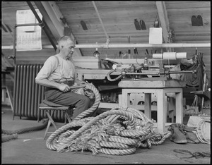 Champion steel cable splicer at Navy Yard