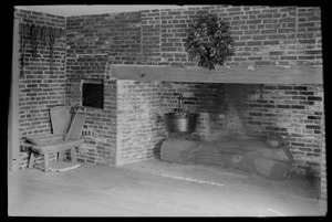 Fireplace, probably Royall House in Medford