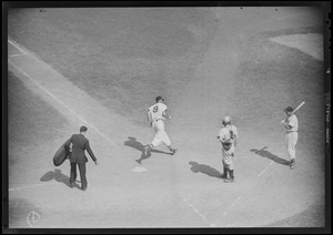Ted Williams at work around the plate at Fenway