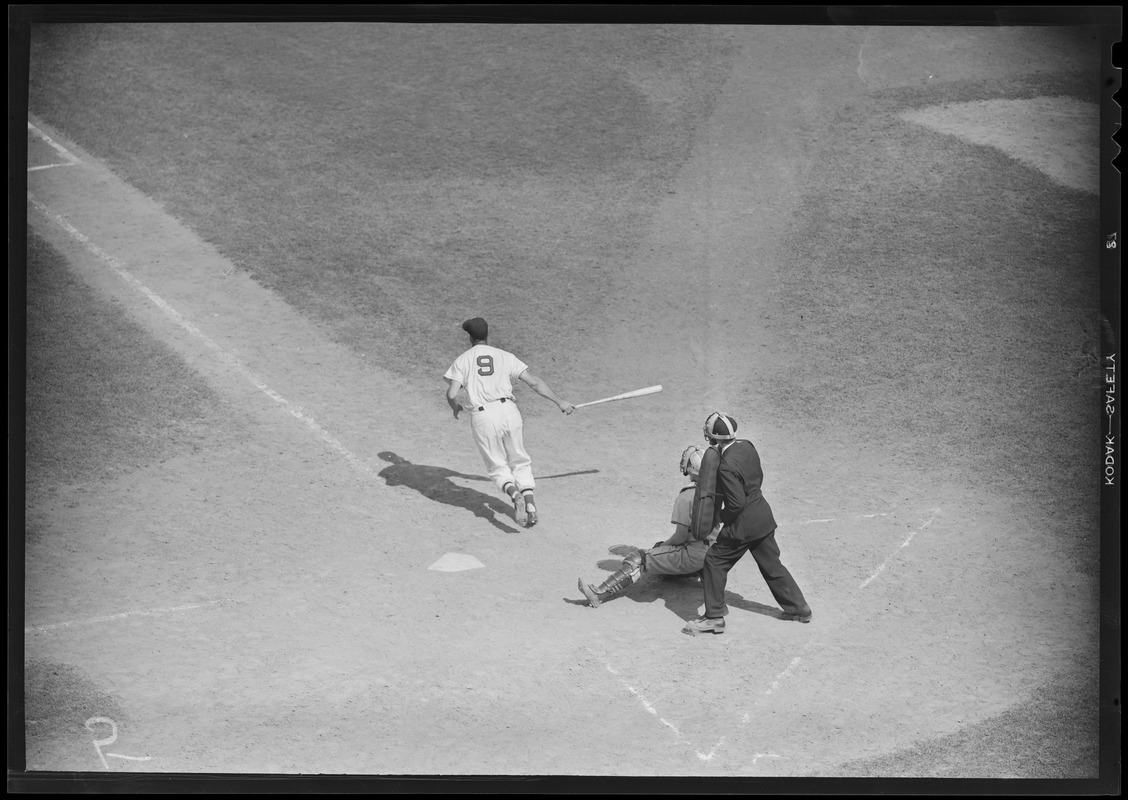 Ted Williams hits one at Fenway