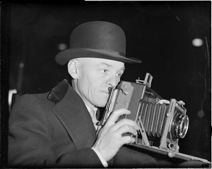 Austin Waldron, Herald-Traveler cameraman way back in 1906, now with Boston Post.