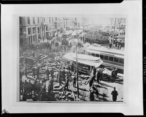 Subway explosion - corner Boylston and Tremont Sts. 17 minutes after noon. Six dead two fatally hurt, $475,000 - damages paid