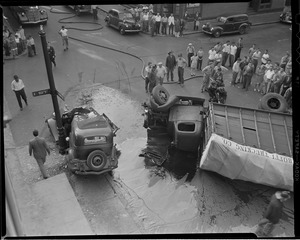 Accident at  the corner of E. Eighth and I Streets, South Boston
