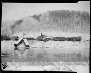 Possibly Boston & Maine RR along Deerfield River, Mass.